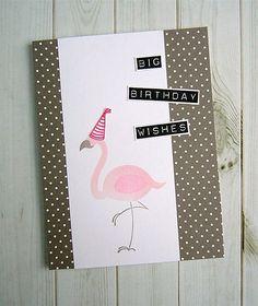 Party hat time! amuse studio, flamingo stamp