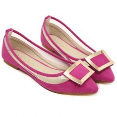 Wholesale Pretty Style Women's Flat Shoes With Rhinestones and Pointed Toe Design (GOLDEN,38), Flats - Rosewholesale.com