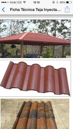 Columna aparente cantera techo de teja de barro casita pinterest - Rejillas de barro ...