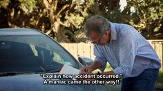 A maniac caused this accident! #carmeme (Top Gear)