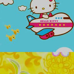 """""""This is your Captain Hello Kitty speaking, we would like to thank you for choosing Hello Kitty Airlines."""
