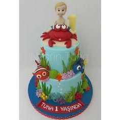 https://flic.kr/p/tVQ3Fq | Yengeç burcu Tuna'ya yengeçli 1 yaş pastası. nice güzel yaşları olsun... #seacake  #1yaspastasi  #firstbirthdaycake  #nesrintongdesigncake  #nemocake  #nemo