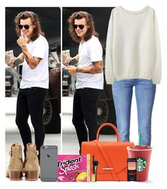 """""""Bumping into Harry"""" by whatyouwearwhoyourwith ❤ liked on Polyvore featuring Diesel, Givenchy, Yves Saint Laurent, La Garçonne Moderne, Gucci and Shiseido"""