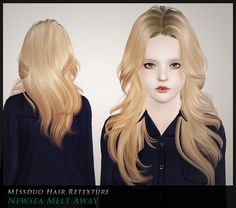 Newsea, Jeb, Peggy, Alesso, Zauma, HFO and Sintiklia hairs retextured by m1ssDuo - Sims 3 Downloads CC Caboodle