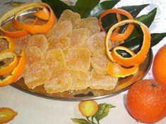 Caramelle zuccherate all'arancia