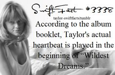 taylor swift facts ~ even her heartbeat is musical, why am i not surprised ..