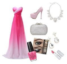 """""""Prom!"""" by amaraoffical ❤ liked on Polyvore featuring moda, Urban Decay, HoneyBee Gardens ve OPI"""