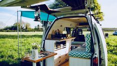 Musician Builds Tiny Budget Camper Van | Full Time-lapse - YouTube Sarah Richardson, Bahamas House, Antique Writing Desk, Lakeside Cottage, New Orleans Homes, Green Curtains, Beach Bungalows, Tiny Spaces, Room Doors
