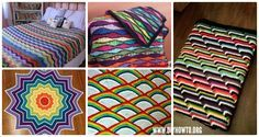 Collection of Crochet Rainbow Blanket Free Patterns: Crochet Baby Blanket, Rainbow Afghan Blanket, Star Blanket, Ripple Blanket, Drop Blanket
