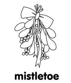 Mistletoe Coloring Pages | Holiday Coloring Pages
