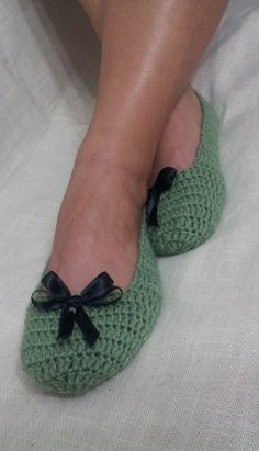 crochet slippers i remember grandma sent a new pair every year.