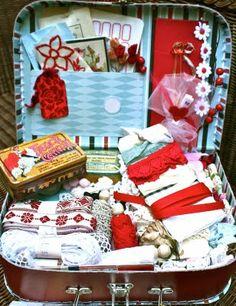 Create a craft suitcase like Pam's...