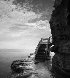 """William Dunigan's """"san diego: ocean beach / sunset cliffs park"""" Lamont St"""