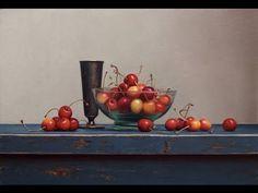 Cherry Still life painting demo - YouTube