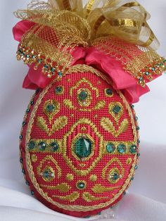 From Russia with Love,a collection of designs faberge needlepoint egg