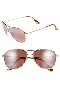 8b5898d751 Maui Jim Cliff House 59mm PolarizedPlus2® Metal Aviator Sunglasses