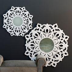 Lujoso artesanal marroquí indio morisco Bohemio Espejo