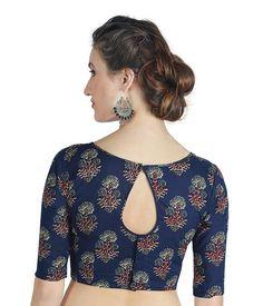 Blouse Back Neck Designs, Simple Blouse Designs, Stylish Blouse Design, Latest Blouse Designs, Kalamkari Blouse Designs, Cotton Saree Blouse Designs, Sari Blouse, Blouse Designs Catalogue, Lehenga