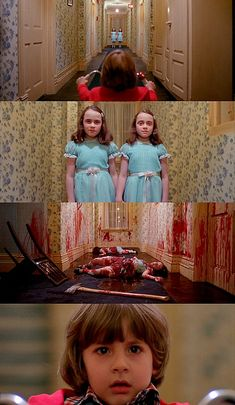 The Shining is an excellent horror film based off of a Steven King novel. John Alcott, the cinematographer for The Shining, used shots to make the audience feel uncomfortable and claustrophobic, adding to the chilling and trapped vibe the movie has.   http://mattburnscoventry.wordpress.com/2011/10/26/261mc-cinematography-review-the-shining/