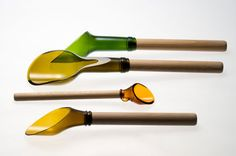 Spoons made from wine bottles!