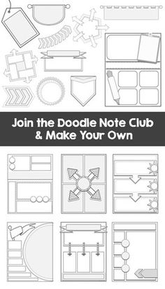 Templates to make your own doodle notes for your classroom