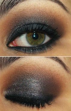 Black/Brown Smoky eyes. Perfect for green eyes