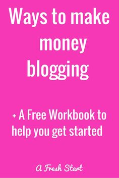 If you are looking for information on how to make money blogging then this series is the place to start. I have come up with lots of ways bloggers make money with their blogs. Plus get a free workbook to help you get started.