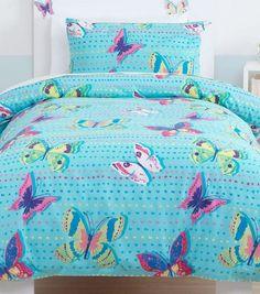 Butterflies Bedding, Blue, Double