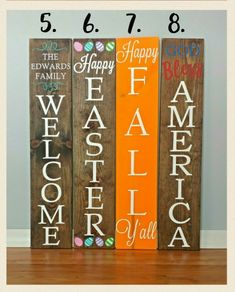 Welcome Sign Front Porch Welcome Sign Reversible Sign - 2019 Home Ideas Wood Pallet Signs, Diy Wood Signs, Wood Pallets, Pallet Art, Pallet Crafts, Wooden Crafts, Pallet Projects, Front Porch Signs, Front Porches