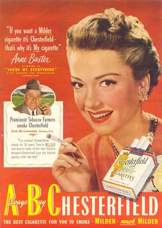Chesterfield Anne Baxter My Everything 1949 -