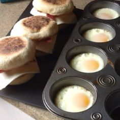 Make ahead eggs. Spray a muffin tin crack Your eggs into the pan cook at 350 for 10 to15 min .