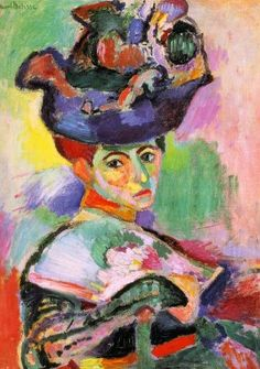 "Green Stripe, Matisse 1905. (only a ""wild beast"" would paint their wife with a green stripe.. tehe)"
