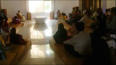 Event: The Gnostic Centre celebrated its 18th anniversary, and the 8th anniversary of the enshrinement of the sacred relics of Sri Aurobindo; Silent meditation at The Shrine; Date: 28th March 2015