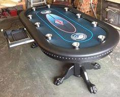 Custom Poker Table, Custom Felt, Chip Drawer, Slide Under Cup Holders, Claw  Feet Legs