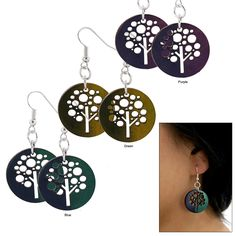 Tree of Life Cut Out Gourd Earrings at The Animal Rescue Site