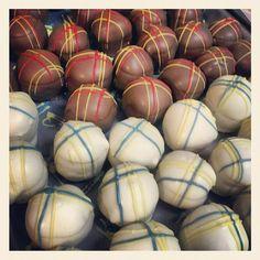 Plaid Cake Balls
