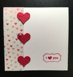 February Customer Thank You card. Stamp set: My Little Valentine (retired) & Itty Bitty Accent Heart punch. Hope they like it!