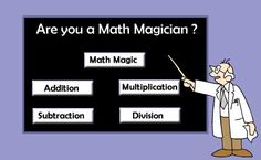 Are you a Math Magician?   Interactive math game, multiple levels