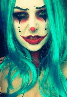 Halloween Clown Make-up Halloween Clown, Halloween Halloween, Halloween Costumes, Creepy Clown Makeup, Scary Clowns, Clown Faces, Scary Faces, Clown Costume Women, Female Clown
