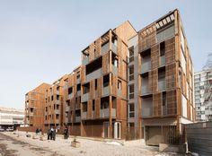 BONDY / Guérin & Pedroza architectes Social Housing Architecture, Architecture Résidentielle, Innovative Architecture, Modular Housing, Wooden Facade, Timber Structure, Duplex, Affordable Housing, Facade Design