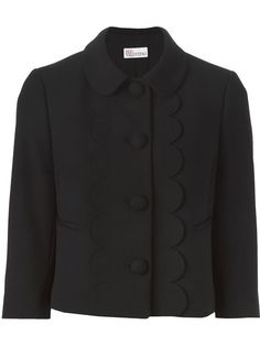 Shop Red Valentino scalloped trim jacket in Changing Room from the world's best independent boutiques at farfetch.com. Shop 300 boutiques at one address.