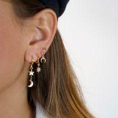 Ear cuff no piercing Gold, ear cuff cz, dainty cuff, gold ear cuff minimalist jewelry conch cuff cartilage cuff - Custom Jewelry Ideas Golden Earrings, Bar Stud Earrings, Moon Earrings, Crystal Earrings, Crystal Jewelry, Statement Earrings, Ear Earrings, Black Earrings, Rhinestone Earrings