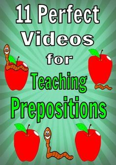 These videos are perfect for teaching younger students about prepositions. There are 11 videos that your students will love. Great for prek, kindergarten, and first grade.