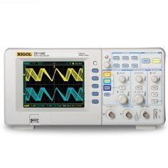 RIGOL DS1102E Digitales Oszilloskop 100MHz 1GSa / S DSO SDS1102CML / ADS1102CML 2 Kanäle +1 EXT Trigger 2Mpts Gedächtnis