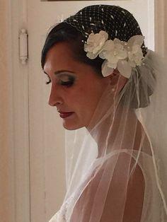 Bird Cage Veil Wedding. Wedding Veil.Bridal Head Piece,Veil Bird Cage,Bridal,Head piece.Wedding tulle. Bridal Veil.Head Piece Veil by JoliJuliette on Etsy https://www.etsy.com/listing/241303124/bird-cage-veil-wedding-wedding