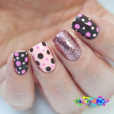 Sweet polka dots nails by Paulina's Passions