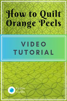 How to quilt orange peels – free motion quilting tutorial – Kustom Kwilts – Famous Last Words Quilting Beads Patterns Quilting Rulers, Longarm Quilting, Free Motion Quilting, Quilting Tips, Quilting Tutorials, Quilting Designs, Quilting Stencils, Quilt Design, Machine Quilting Patterns