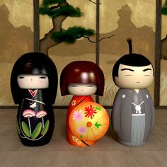 Kokeshi dolls - I remember them from my childhood!