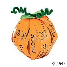Thankful Pumpkin Craft