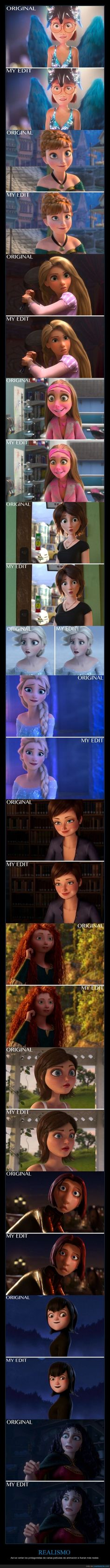 More realistic animated characters Humour Disney, Funny Disney Memes, Funny Memes, Film Disney, Disney Movies, Disney And Dreamworks, Disney Pixar, Disney Princess Memes, Arte Nerd